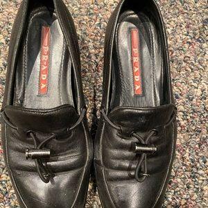 Prada slip on loafers 2352 vibram sole